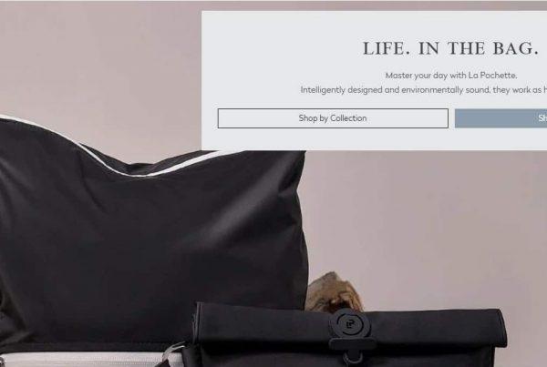 la pochette website design
